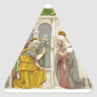 Angel Gabriel The Annunciation To Mary Triangle Sticker