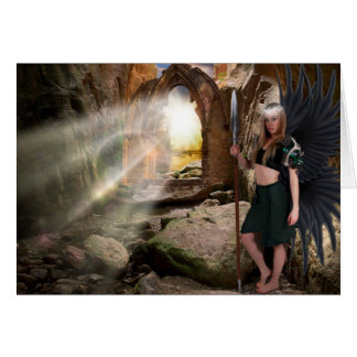 "Angel ""Gatekeeper "" Christmas Card"