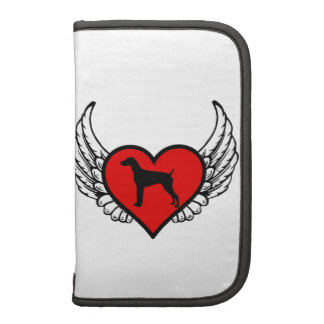 Angel German short-Haired Pointer winged Heart Folio Planners