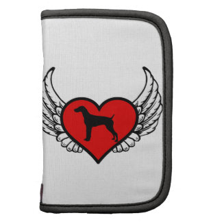 Angel German short-Haired Pointer winged Heart Folio Planner