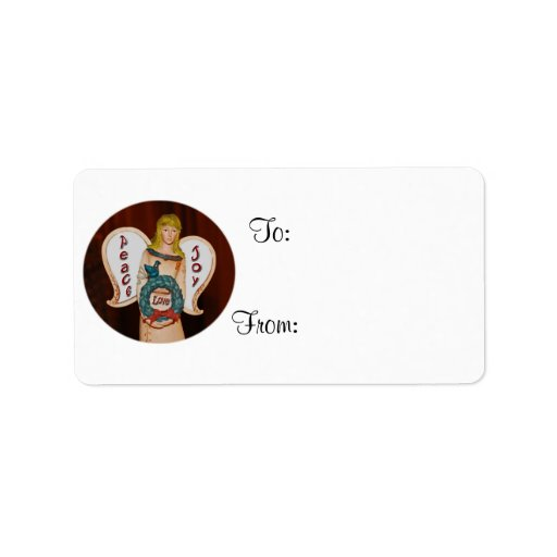 Angel Gift Tags Address Label
