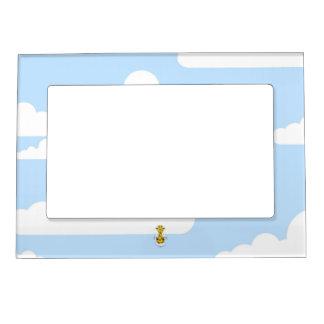 Angel Giraffe in Clouds Magnetic Photo Frame