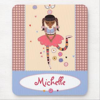 Angel Girl (Afro) Custom Name Mousepad