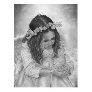 Angel girl dove blessings Postcard