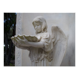 Angel Girl figure Bonaventure Savannah Georgia GA Poster