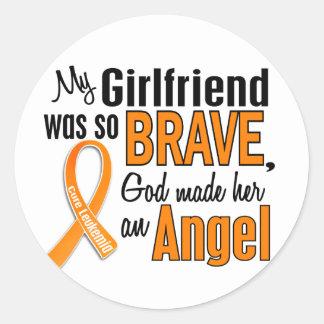 Angel Girlfriend Leukemia Classic Round Sticker