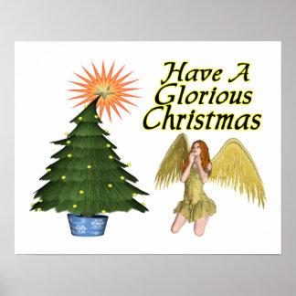 Ángel glorioso del navidad impresiones