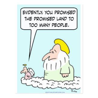 angel god earth promised land too many people postcard