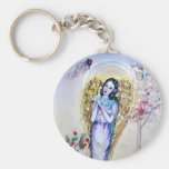 Angel gold key chain