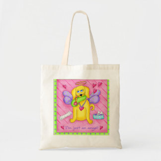 Angel Golden Yellow Dog with Shoe Tote Bag