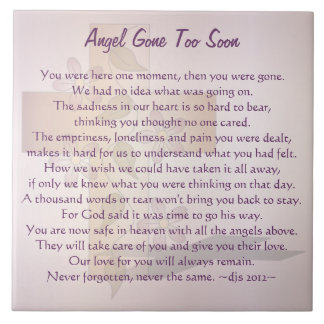 Angel Gone Too Soon Ceramic Tile