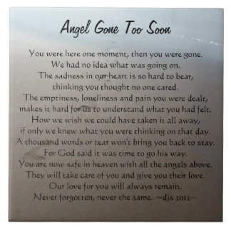 Angel Gone Too Soon Memory Ceramic Tile