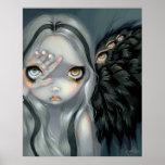 Ángel gótico de la mano de la IMPRESIÓN divina del Poster