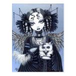 Ángel gótico del gato persa del Victorian de Postales