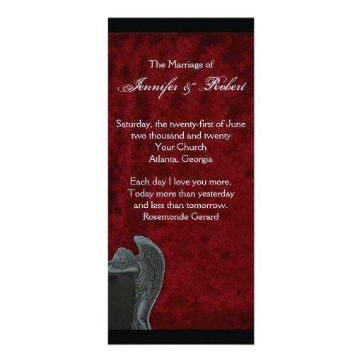 Ángel gótico en programa rojo del boda del lona publicitaria