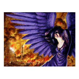 Ángel gótico gritador postal