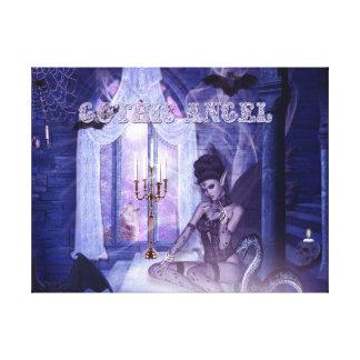 Ángel gótico impresión en lona estirada
