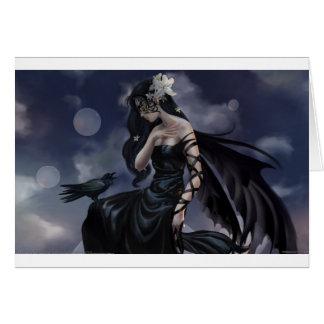 Ángel gótico tarjetas