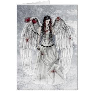 Ángel gótico tarjeta de felicitación