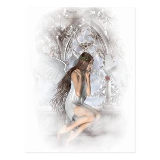 Ángel gótico y su ilustración de la paloma postal