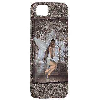Ángel gótico y su paloma iPhone 5 Case-Mate cobertura