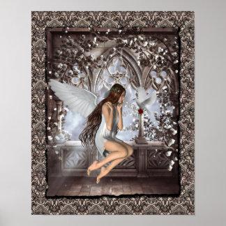 Ángel gótico y su paloma posters