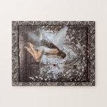 Ángel gótico y su paloma puzzles con fotos