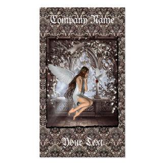 Ángel gótico y su paloma tarjeta de visita
