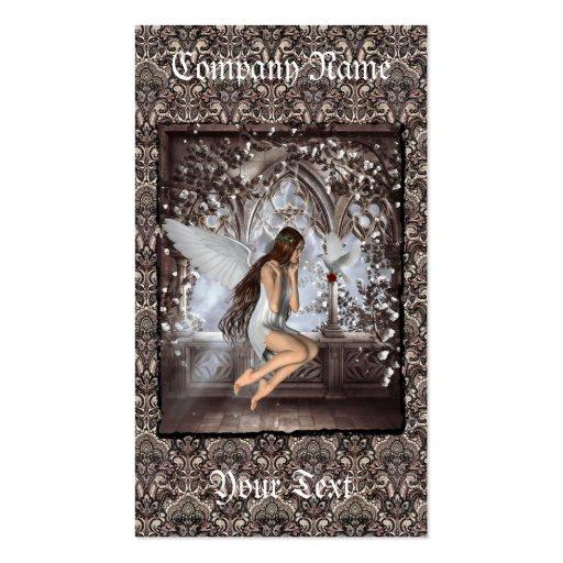 Ángel gótico y su paloma tarjetas de visita