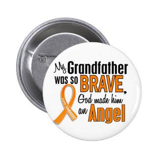 Angel Grandfather Leukemia 2 Inch Round Button