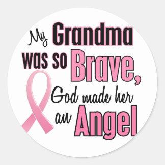 Angel GRANDMA Breast Cancer T-Shirts & Apparel Classic Round Sticker