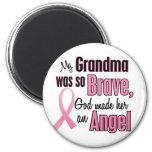 Angel GRANDMA Breast Cancer T-Shirts & Apparel 2 Inch Round Magnet
