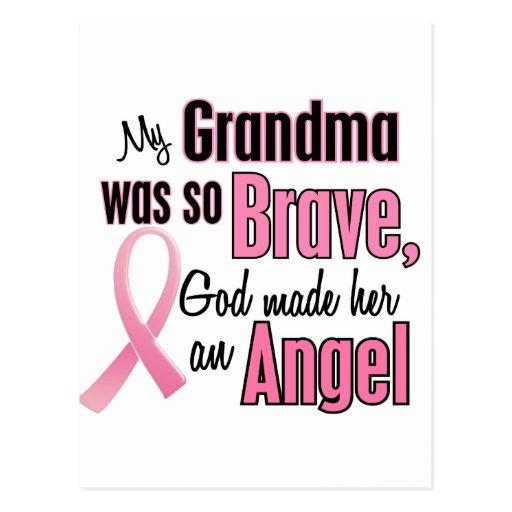 Angel GRANDMA Breast Cancer T-Shirts & Apparel Postcard