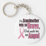 Angel GRANDMOTHER Breast Cancer T-Shirts & Apparel Keychains