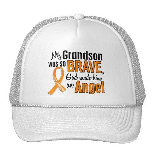 Angel Grandson Leukemia Trucker Hat