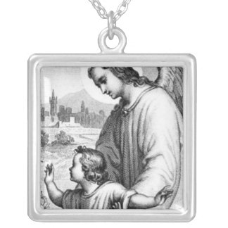 Angel Guarding A Child Necklaces