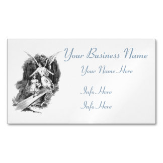 Angel Guarding A Girl Child Business Card Magnet