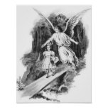 Angel Guarding A Girl Child Poster