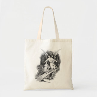 Angel Guarding A Girl Child Tote Bag