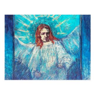 Angel Half-Figure (after Rembrandt) Van Gogh Fine Postcard