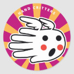 Hand shaped Angel Hand Classic Round Sticker