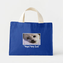 """Angel Harp Seal"" Wildlife Conservation Tote Bag"