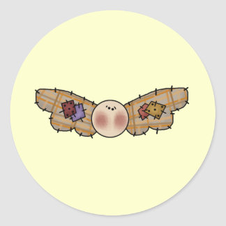 Angel Head Classic Round Sticker