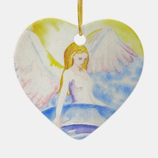 Angel Healing the Planet Heart Ornament
