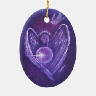 Angel Heart Christmas Ornament
