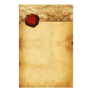 ANGEL HEART RED WAX SEAL PARCHMENT MONOGRAM STATIONERY