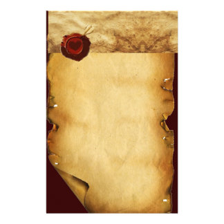 ANGEL HEART RED WAX SEAL PARCHMENT STATIONERY