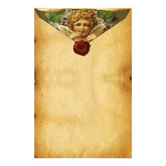 ANGEL HEART RED WAX SEAL,VALENTINE'S DAY PARCHMENT STATIONERY