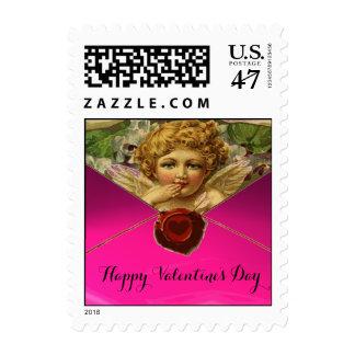 ANGEL HEART RED WAX SEAL Valentine's Day Postage Stamp