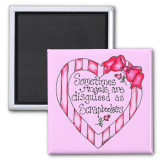 Angel Heart Scrapbooker Tshirts and Gifts 2 Inch Square Magnet